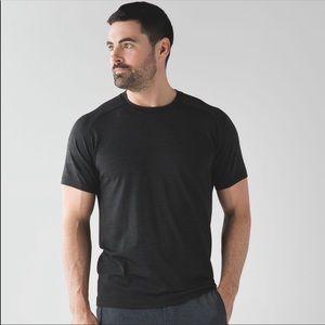 Lululemon Vent Tech Black Metal Short Sleeve Shirt